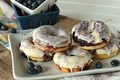 Blueberry Lemon Glazed Doughnuts