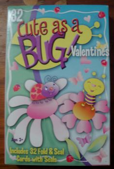 Valentines, Cute as a BUG unopened box 32 Fold & Seal Cards. Vintage Valentines by nanasarah on Etsy