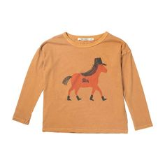 T-shirt LS Horse - Winter collection Bobo Choses The Unknown Mountain Journey - Online Baby - Kids - Teens Webshop - Goldfish.be