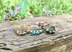 Hippie Rings, Hippie Jewelry, Beaded Rings, Gemstone Rings, Mermaid Ring, Evil Eye Ring, Wire Wrapped Rings, Crystal Jewelry, Gifts For Her
