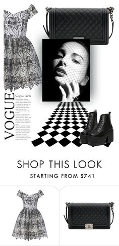 """""""Black n Sleek"""" by hannahgabby on Polyvore featuring Alice + Olivia and Chanel"""