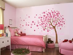 Cherry Blossom Tree wall decals nursery wall decals children girl baby wall decals wall sticker wall decor-DK004