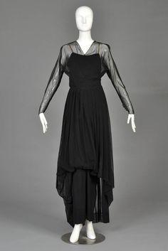 Hattie Carnegie Mesh Evening Gown, 1940s