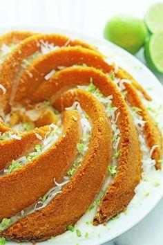Key Lime Coconut Pound Cake | Grandbaby Cakes