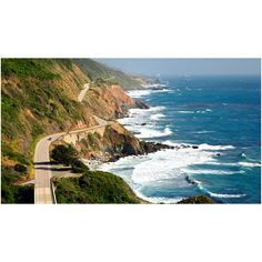 Pacific Coast Highway Road Trip Road Trips ❤ liked on Polyvore featuring backgrounds, pictures and travel
