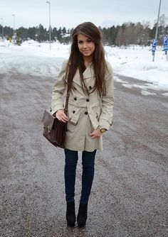 Zara Trench Coat, Jeans From Hollister, Steve Madden Heels