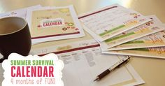 In the Summer Survival Calendar, you will get four complete months of activities. There is no shortage of ideas to keep your child's mind engaged and the fun flowing!