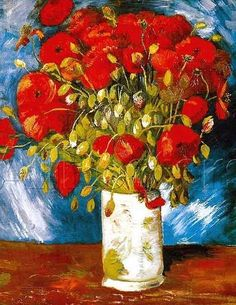 These poppies by Vincent van Gogh are just as stunning as the more famous sunflowers.