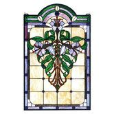 Found it at Wayfair - Tiffany Nouveau Lily Stained Glass Window