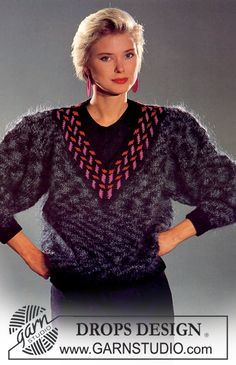 DROPS jumper in Magia with pattern in Karisma Superwash. Size S – L Free pattern by DROPS Design.