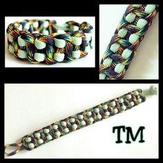 Cosmic GlowintheDark Paracord Bracelet by ThrowinWristicuffs, $9.00