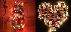 Τα χριστουγεννιάτικα λαμπάκια δεν προορίζονται μόνο για το δέντρο! Δείτε μερικές πρωτότυπες ιδέες διακόσμησης για όλο το σπίτι! Christmas Time, Photo Wall, Holiday Decor, Frame, Articles, Diy, Home Decor, Picture Frame, Photograph