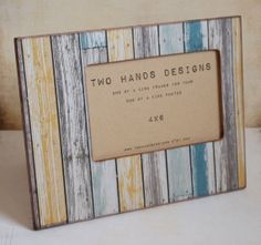 4x6 Beach House Picture Frame by TwoHandsDesigns on Etsy, $24.00