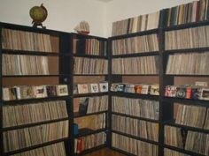 Nice record collection. #music #records #vinyl #recordcollection http://www.pinterest.com/TheHitman14/for-the-record/