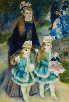 Pierre Auguste Renoir Online, Mother and Children, Oil Paintings Only For Art Lovers! This is a non-profits site and shows all the paintings of Pierre Auguste Renoir's art works. Pierre Auguste Renoir, Claude Monet, Post Impressionism, Impressionist Art, Manet, Madonna Und Kind, August Renoir, Renoir Paintings, Edgar Degas
