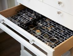 Optimize your closet storage with our custom drawer dividers, specialty racks, hanging tools, and more. Explore our custom closet organization systems today! Shoe Rack Closet, Closet Storage, Closet Organization, Organization Ideas, Shoe Racks, Drawer Shelves, Shelving, Shelf Dividers, Closet Dividers
