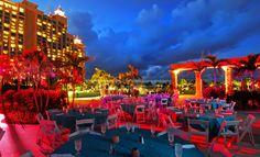 Atlantis Bahamas, night wedding.