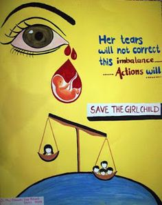 Art and Colours In Life: Save the Girl Child