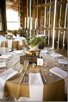 Rustic Buffet Tables And