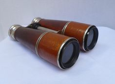 Antique Chevalier French Binoculars Leather Wrapped by AffinityArt