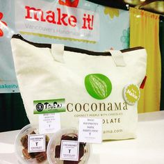 Today is the last day of Make It Vancouver! Come stop by to try our new flavor rose raspberry dark chocolate truffles (gluten-free, nut-free and dairy free)! Roasted green tea (Hoji-cha) is also available today!  #makeit #coconama #foodevent #hojicha #roastedgreentea #rose #raspberry #vancouver #canada #chocolate #dairyfree #glutenfree #truffle #delish #ココナマ #チョコレート #グルテンフリー #バンクーバー #カナダ