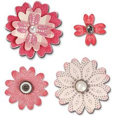 Sizzix Bigz Die, Flower Layers With Heart Petals
