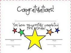 Kindergarten Completion Certificate