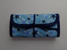 Crochet Hook Case Starfish Stars Quilted Hook Case Quilted Bag by RoxannasBags on Etsy