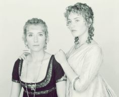 Emma Thompson (Elinor Dashwood) & Kate Winslet (Marianne Dashwood) - Sense and Sensibility directed by Ang Lee, 1995 - via emmawearsprada