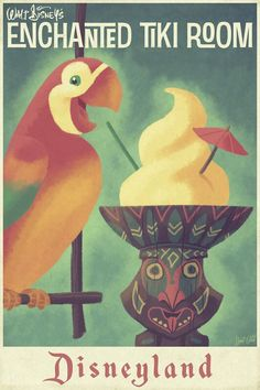 Disneyland Enchanted Tiki Room Art. Perfect for accenting walls, creating beautiful photo murals or craft ideas. Decorate your walls with Disney art .