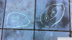 3-vuotiaan lapsen katugraffiti - Streetgraffiti of a 3 year old child