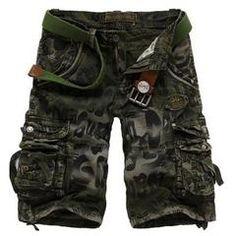 Unique Men s Camo Military Style Multi-Pocket Short Pants 39f5f326ca