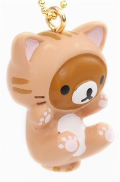 pretty San-X mini charm for cellphones with Rilakkuma brown bear