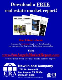 Download a free real estate market report at www.sanangelomarketreport.com