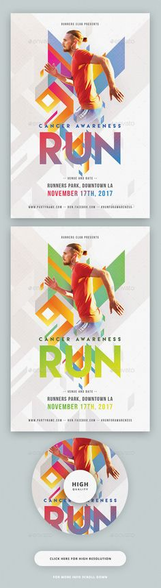 Run Festival Flyer Template PSD