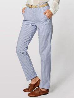 American Apparel - Unisex Stripe Poly-Cotton Welt Pocket Pant