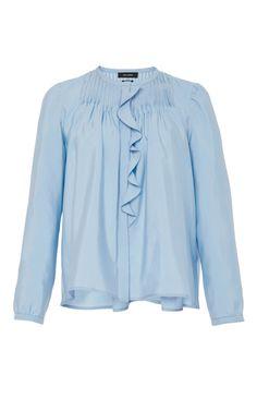 Pleyel Ruffle Front Blouse by ISABEL MARANT Now Available on Moda Operandi