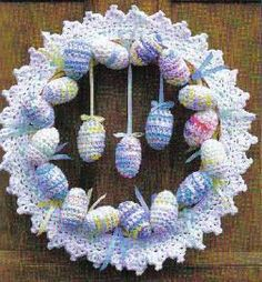 Easter Wreath crochet..cute by I don't know how to crochet (or knit)!