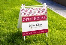 SM Sold custom developed signage for Irvine Realtor, Mina Chae