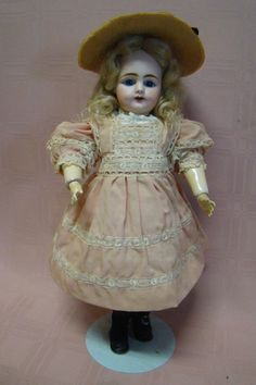 German Competent All Bisque Doll Figurine Holding A Doll Googly Googlie Eyes Always Buy Good