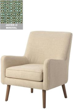 Custom Mid-Century Modern Upholstered Accent Chair