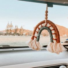 Your car cant look any more cuter with this hanging in it! Everything i make is handmade with love. and i hope you love it as much as i do (: **RESTOCKS EVERY MONTH** Hippie Auto, Hippie Car, Cute Car Accessories, Car Hanging Accessories, Car Interior Accessories, Wrangler Accessories, Christmas Accessories, Car Interior Decor, Car Interior Design