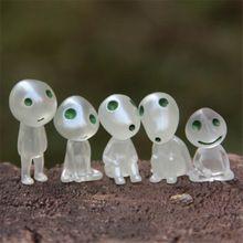J260 nouvelle arrivée 5 pcs/set arbre lumineux elfes jouet Miyazaki Cartoon princesse Mononoke Action Figure jouets enfants cadeaux gros(China (Mainland))