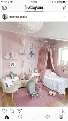 The couch and chair ❤️❤️ Adorable Girl's bedroom decor, pale pink and white. Bedroom Themes, Girls Bedroom, Bedroom Decor, Bedroom Ideas, Kids Bedroom Designs, Little Girl Rooms, Baby Room Decor, My New Room, Room Inspiration