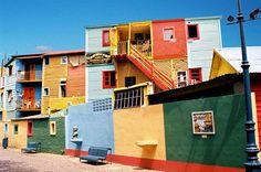 Les maisons bariolées de La Boca à Buenos Aires