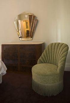 Art Deco chair & mirror