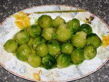 Λαχανάκια Βρυξελλών με λαδολέμονο