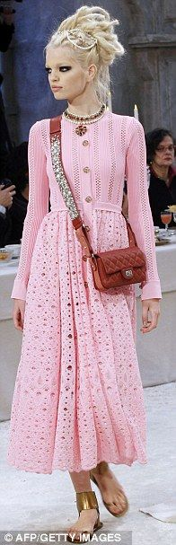 Chanel Pre Fall 2012-Head jewellery were the order of the day.  last few weeks of summer -lets go PINK at The Boo'tique!!