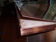 DIY copper countertop - Metalworking Forum - GardenWeb. This is a how to guide for installing copper counters using 20 oz copper sheeting and copper bar edging.