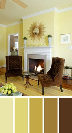 Popular Living Room Paint Colours Best Of 57 Living Room Color Schemes to Make Color Harmony In Yours Living Room Color Combination, Good Living Room Colors, Room Wall Colors, Living Room Color Schemes, Beautiful Living Rooms, Living Room Grey, Interior Design Living Room, Living Room Designs, Yellow Walls Living Room